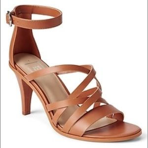 30bef126a0f6 GAP NWOB City Strappy Leather Sandals Cognac